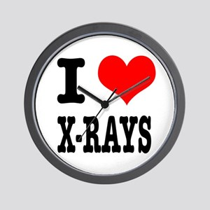 I Heart (Love) Xrays Wall Clock