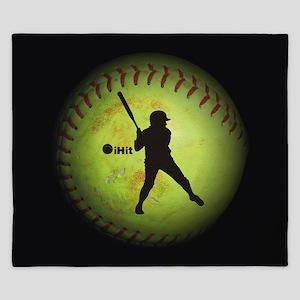 iHit Fastpitch Softball (right handed) King Duvet