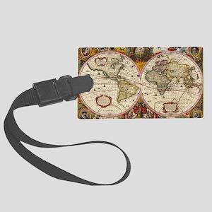 World Map 1630 Large Luggage Tag