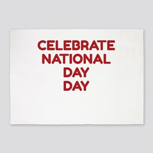 Celebrate National Day Day 5'x7'Area Rug