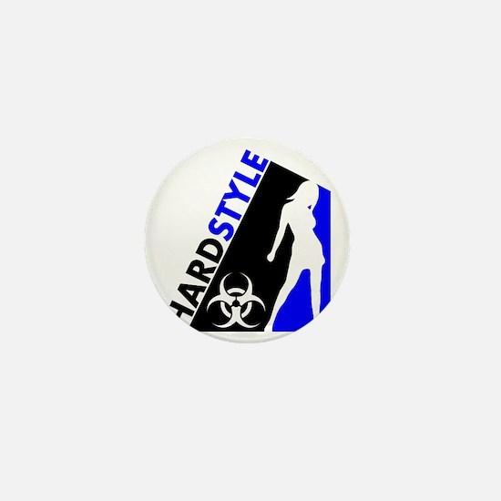 Hardstyle Dancer and Biohazard design Mini Button