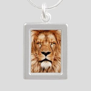 Lion - The King Silver Portrait Necklace