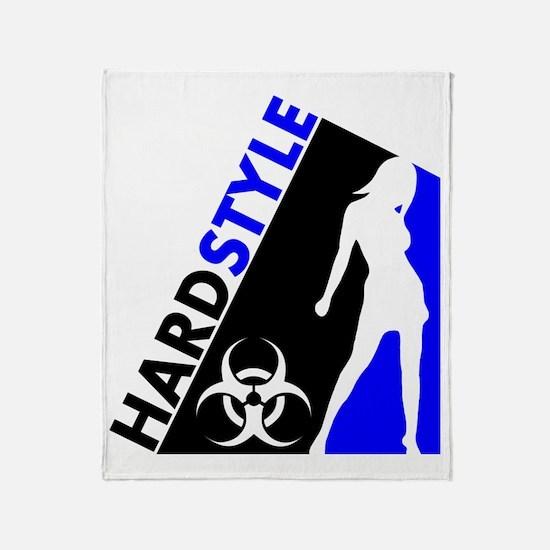 Hardstyle Dancer and Biohazard desig Throw Blanket
