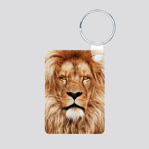 Lion - The King Aluminum Photo Keychain