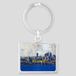 Istanbul_5x3rect_sticker_BlueMo Landscape Keychain