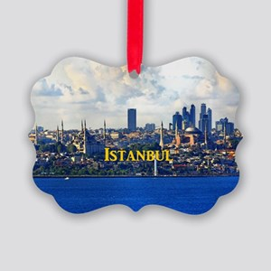 Istanbul_5x3rect_sticker_BlueMosq Picture Ornament