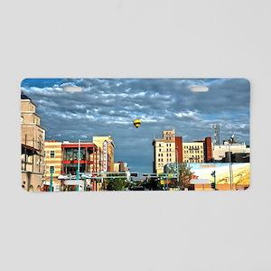 Downtown Balloon Aluminum License Plate