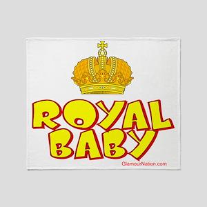 Royal Baby Gold Crown Throw Blanket