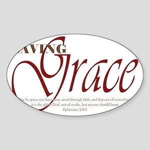 Saving_Grace Sticker (Oval)