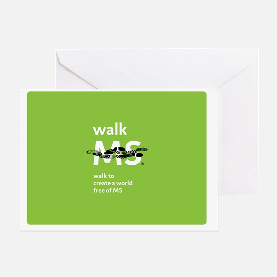 Walk to create a world free of MS Greeting Card