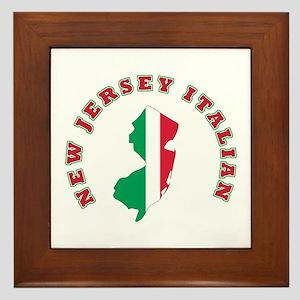 New Jersey Italian Framed Tile