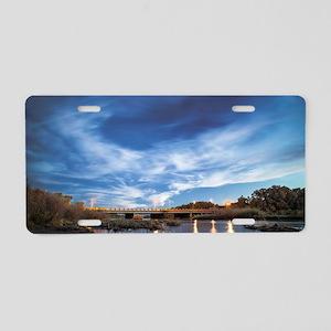 Bosque Highway Aluminum License Plate