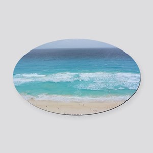 Cancun Cover Oval Car Magnet