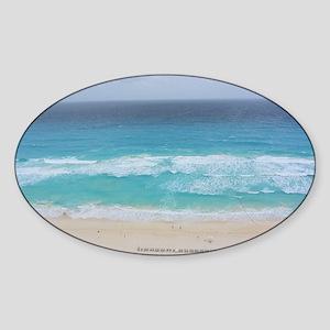 Cancun Cover Sticker (Oval)