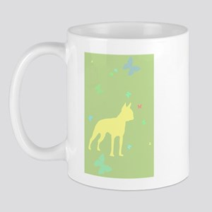 boston terrier butterflies Mug
