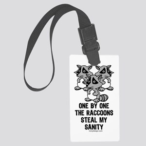 One By One The Raccoons Large Luggage Tag