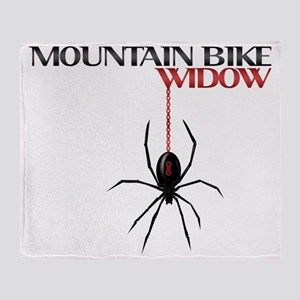 Mountain Bike Widow Throw Blanket