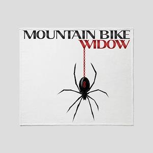Mountain Bike Widow Throw Blanket