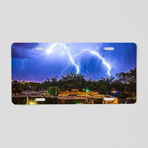 Lightning Dance Aluminum License Plate
