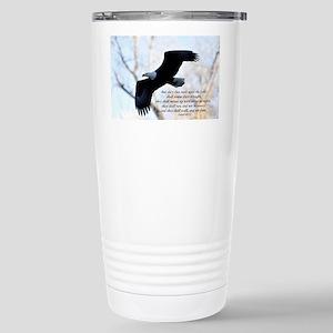 Isaiah 40:31 Eagle Soar Stainless Steel Travel Mug