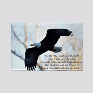 Isaiah 40:31 Eagle Soaring Rectangle Magnet