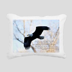 Isaiah 40:31 Eagle Soari Rectangular Canvas Pillow