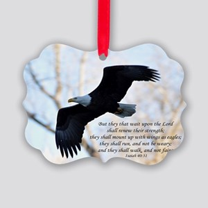 Isaiah 40:31 Eagle Soaring Picture Ornament