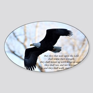 Isaiah 40:31 Eagle Soaring Sticker (Oval)