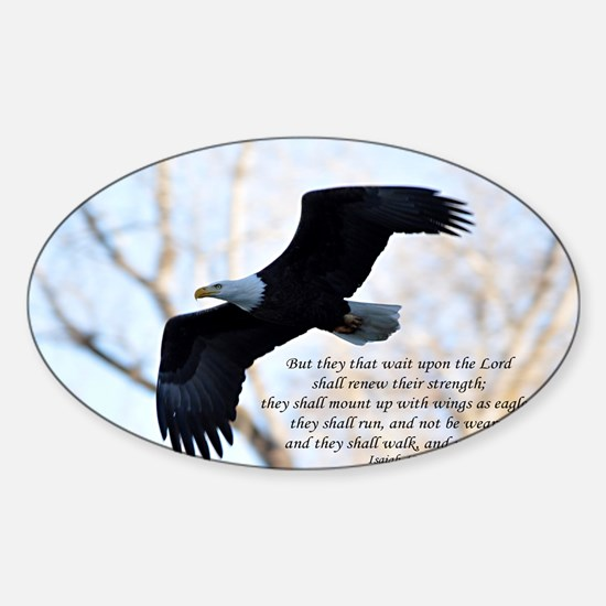 Isaiah 40:31 Eagle Soaring Sticker (Oval)