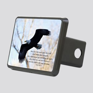 Isaiah 40:31 Eagle Soaring Rectangular Hitch Cover