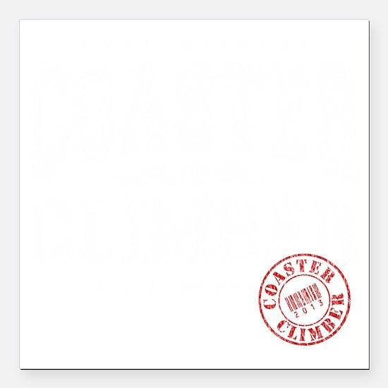 "Coaster_B Square Car Magnet 3"" x 3"""