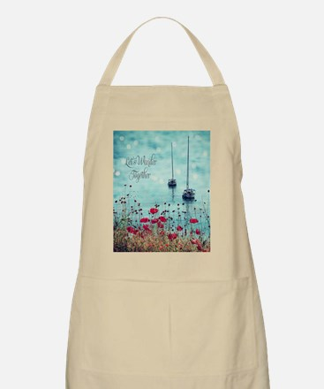 Sea and Poppies Apron