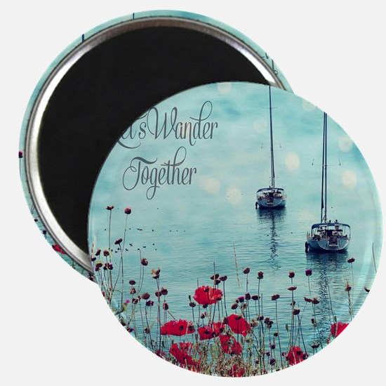 Sea and Poppies Magnet