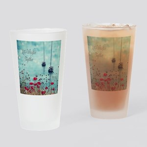Sea and Poppies Drinking Glass