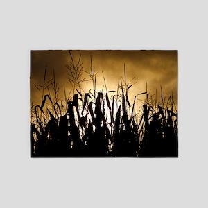 Corn field silhouettes 5'x7'Area Rug