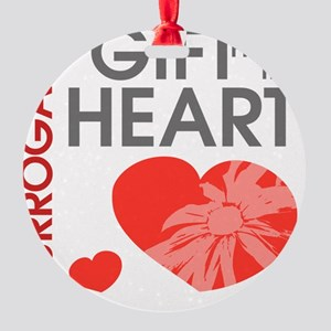 Surrogacy A Gift from the Heart Round Ornament