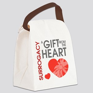 Surrogacy A Gift from the Heart Canvas Lunch Bag