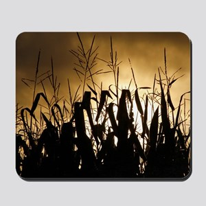 Corn field silhouettes Mousepad