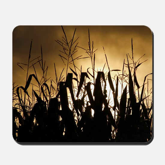 Corn field silhouettes Mousepad