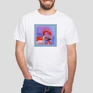 Flamingo & Chick White T-Shirt