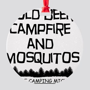 Must Be Camping Michigan Round Ornament