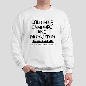 Must Be Camping Michigan Sweatshirt