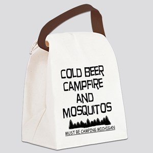 Must Be Camping Michigan Canvas Lunch Bag