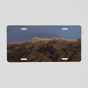 Sandia Peak Aluminum License Plate