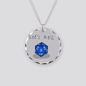 Lets Roll Necklace Circle Charm