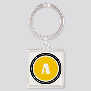 Yellow A Square Keychain
