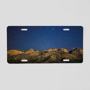Sandia Stars Aluminum License Plate