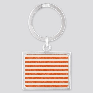 Vintage Orange and White Beach  Landscape Keychain