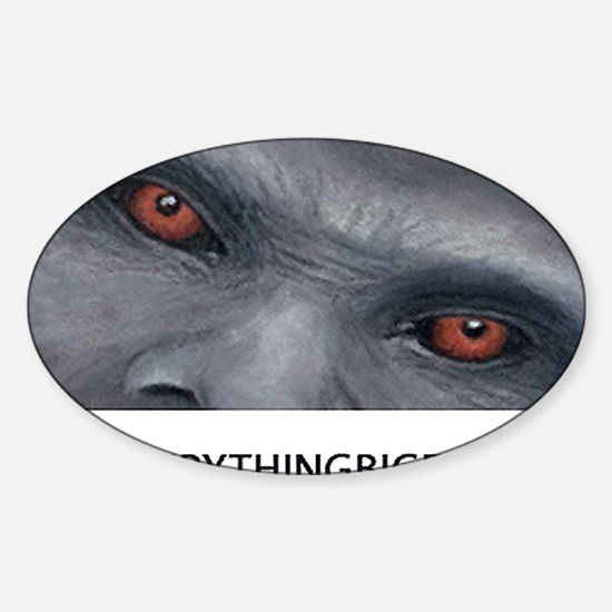 EVERYTHING BIGFOOT! Sticker (Oval)
