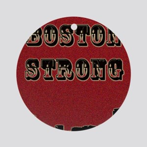 Boston Strong Round Ornament